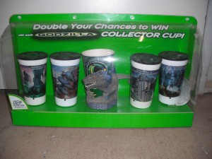Godzilla_Collector_Cup_Display_From_Taco_Bell_1998